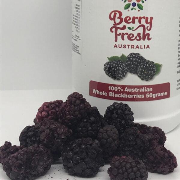 Whole Blackberries 50 by BerryFresh Australia