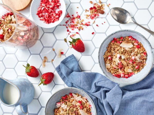 Dried Strawberry Crumble pieces by Berry Fresh Australia